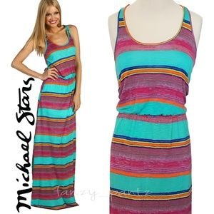 Michael Stars maxi dress racerback Sunset Stripe